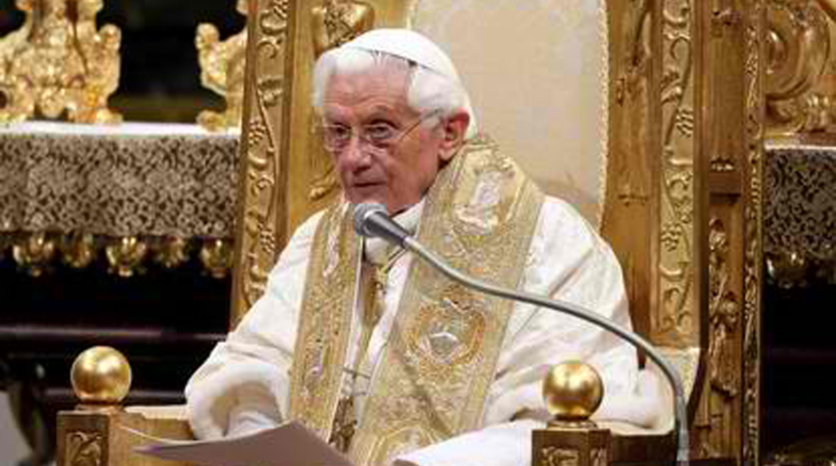 There is a plot to dethrone Pope Benedict