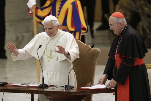 Feb 14, 2013: Pope Benedict warned Roman Clergy that He had not resigned