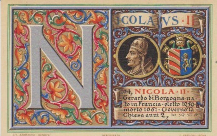 The Bull of Pope Nicholas II: In Nomine Domini, April 13, 1059