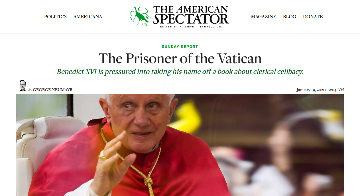 George Neumayr — The Prisoner of the Vatican