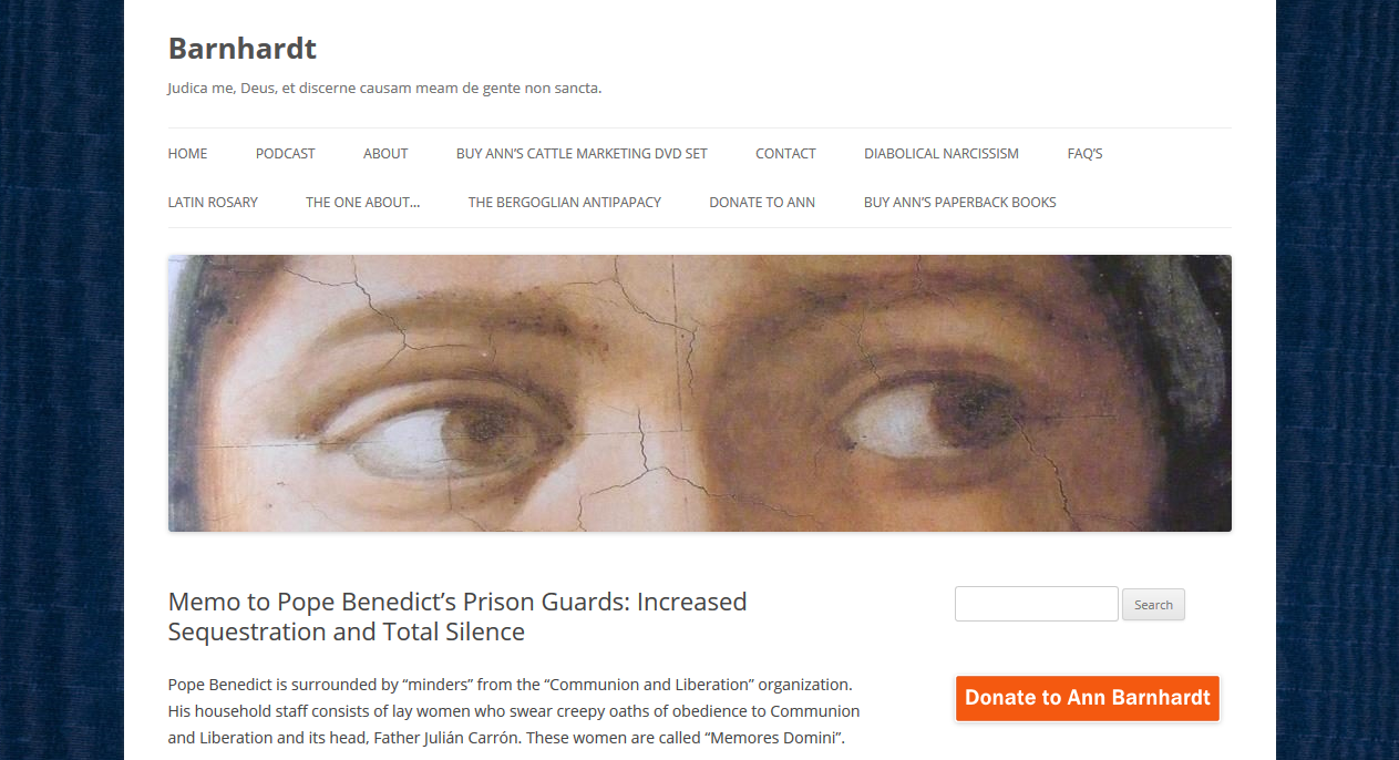 Pope Benedict is not only a prisoner, his guards have been carefully selected