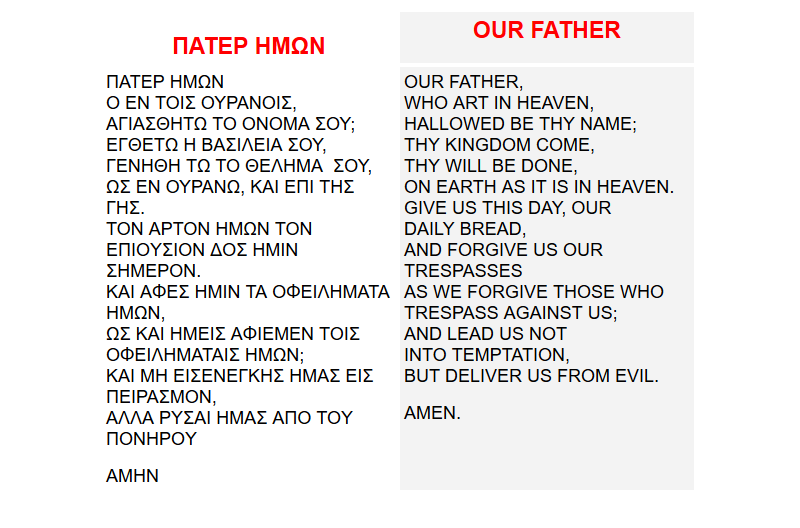 Do not say the Heretical 'Our Father'