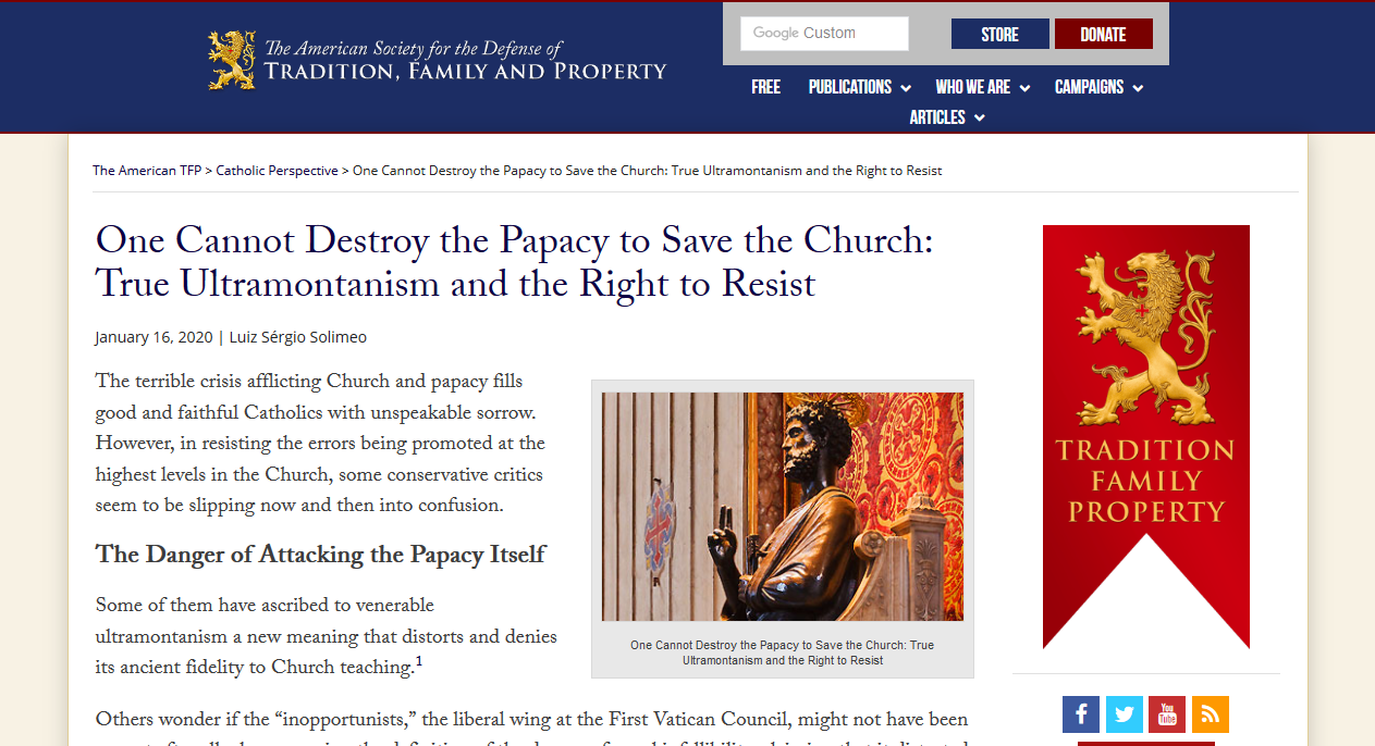TFP: But who is the pope?