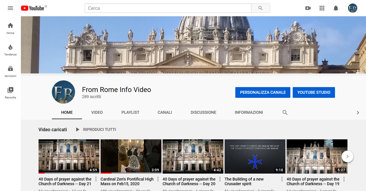 FromRome.Info Video — Friday 21st