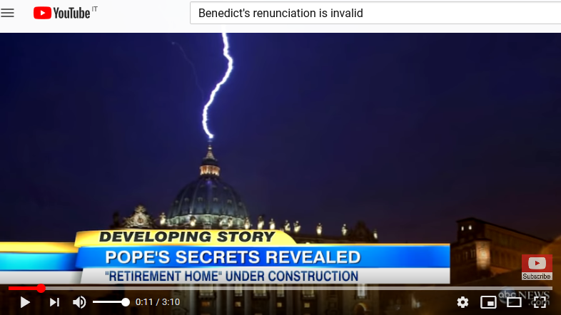 ABC in 2013: Benedict planned never to leave the Vatican