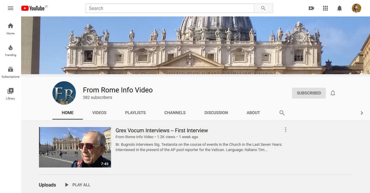Feb. 22: Today on FromRome.Info Video — Don Enrico Roncaglia at Rome