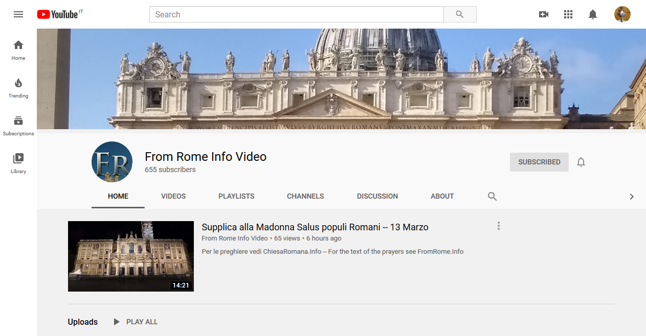 Action Item: Help Our Lady get Her Supplica live on Youtube!