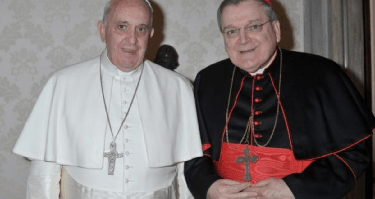Why does Burke insist that Bergoglio is the pope?