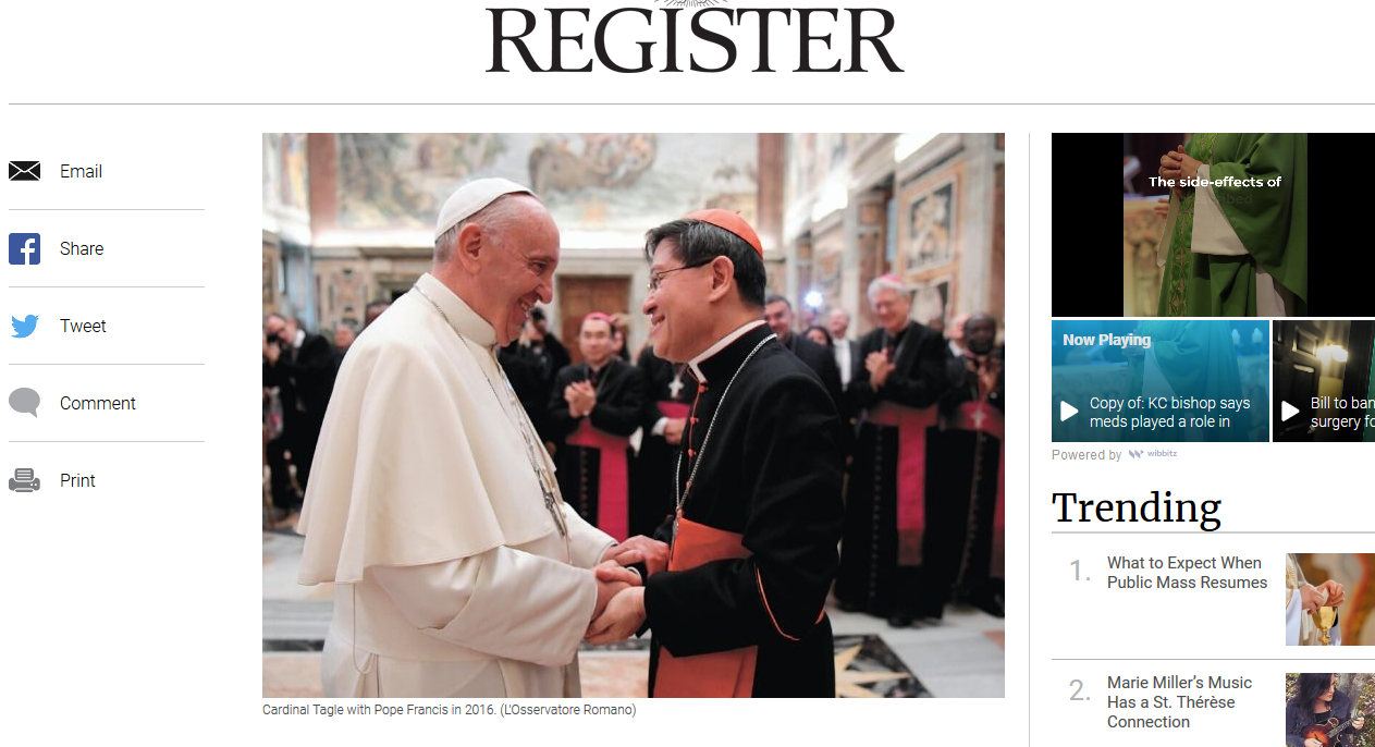 Is Bergoglio's objective to surrender the Vatican to Peking?