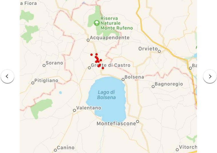 Ancient Bolsena Volcano gives ominous sign of Major Earthquake to come in Central Italy