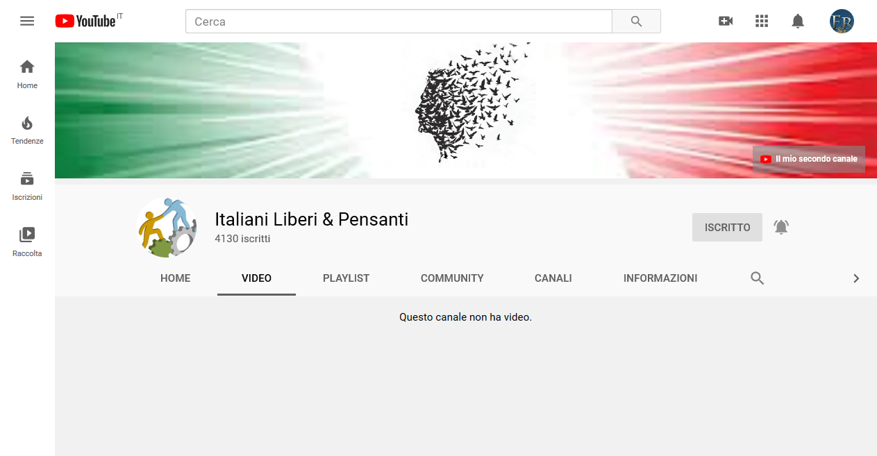 YouTube Erases  IL&P Channel for promoting General Pappalardo