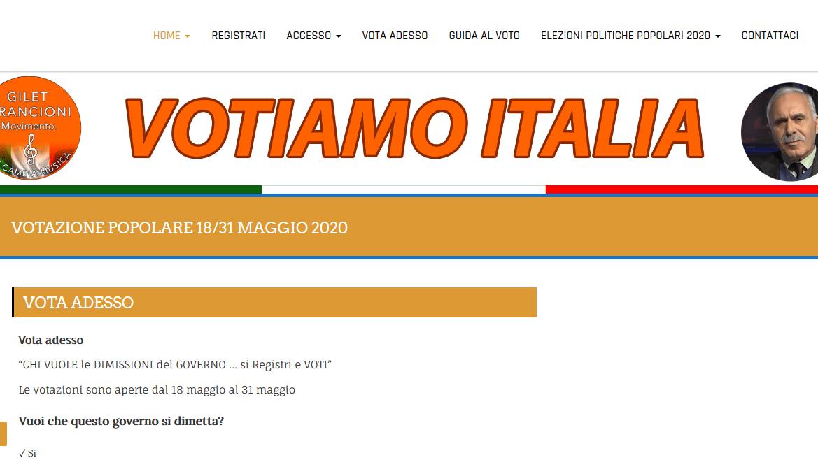 Gilet Arancioni: VotiamoItalia.IT per mandare il Governo a casa