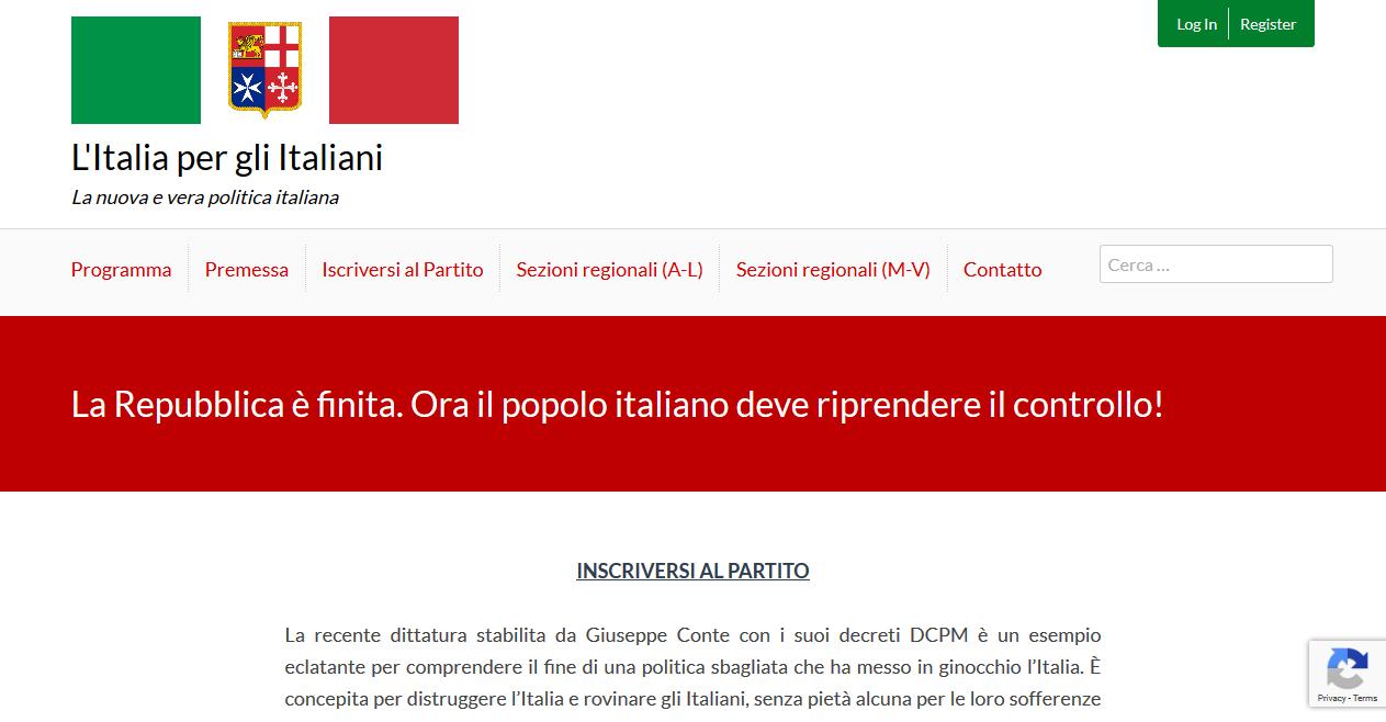 L'Italia per gli Italiani — Un nuovo movimento politico italiano cattolico