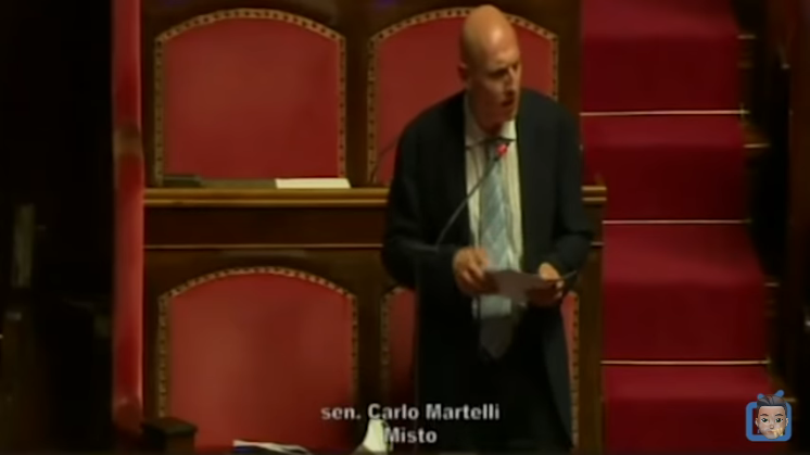 Senator Martelli denounces the Italian Government for using Covid-19 as an excuse for Tyranny