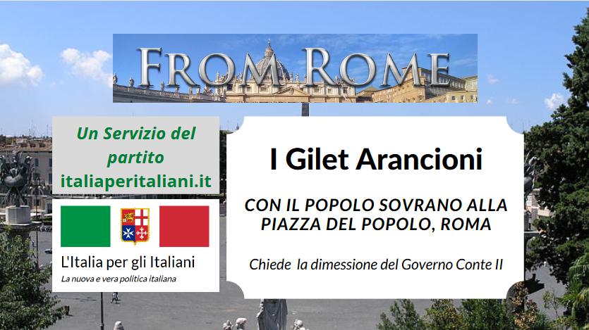 Il Popolo Sovrano in Piazza del Popolo, roma — in diretta, 3 Giugno