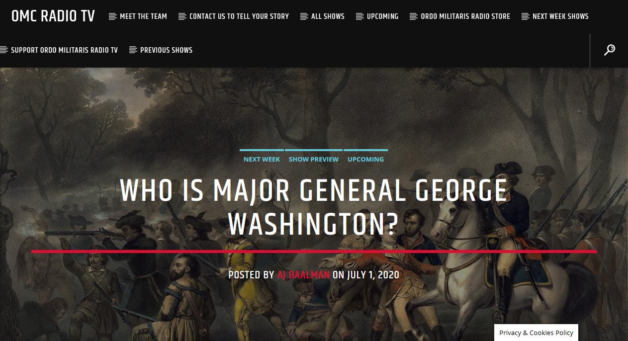 OMC Radio TV: A Catholic Look at George Washington