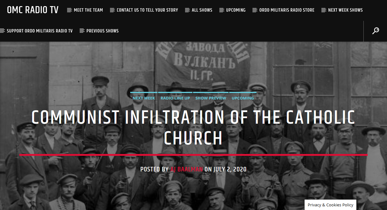 OMC Radio TV: Communist Infiltration in the Church