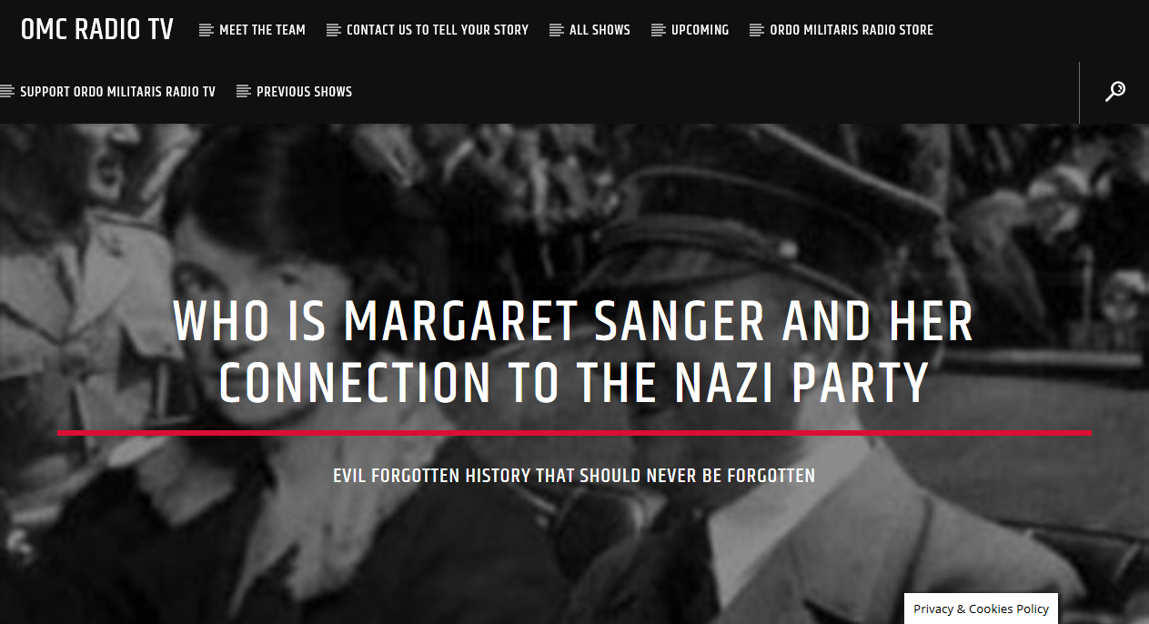 OMC Radio TV: Margaret Sanger & her connection to the Nazi Party, Bill Gates