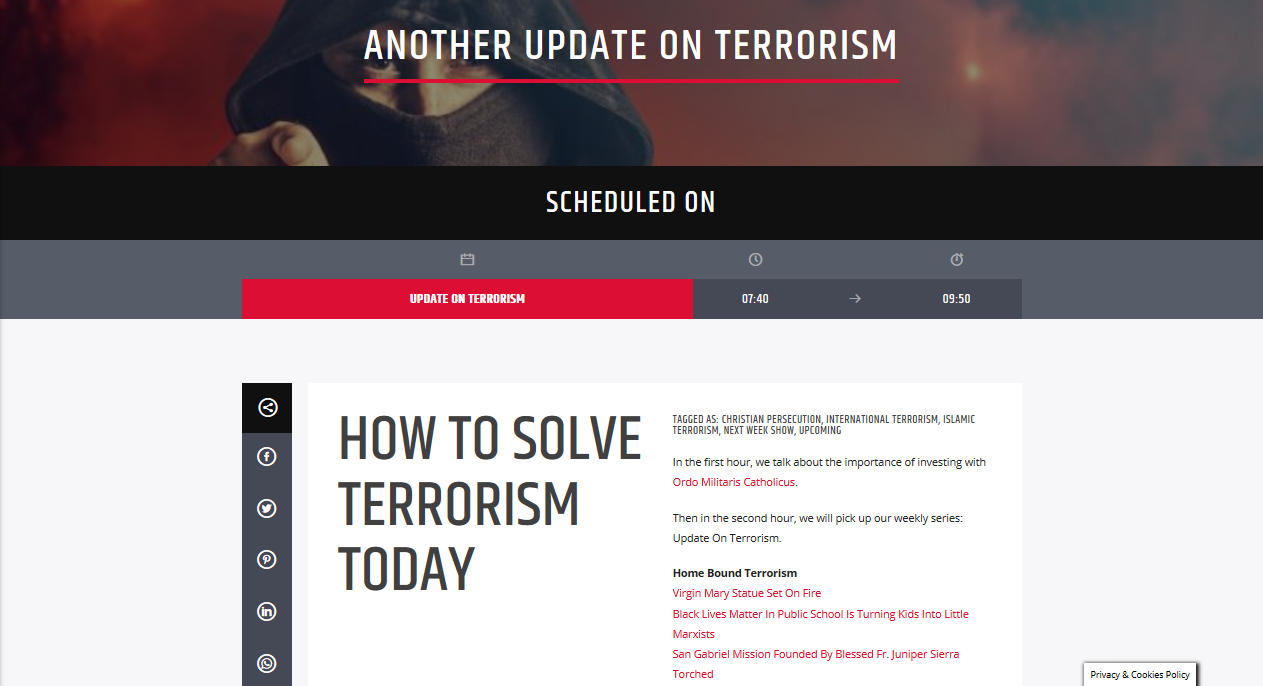 Terrorism today, and how to Solve it