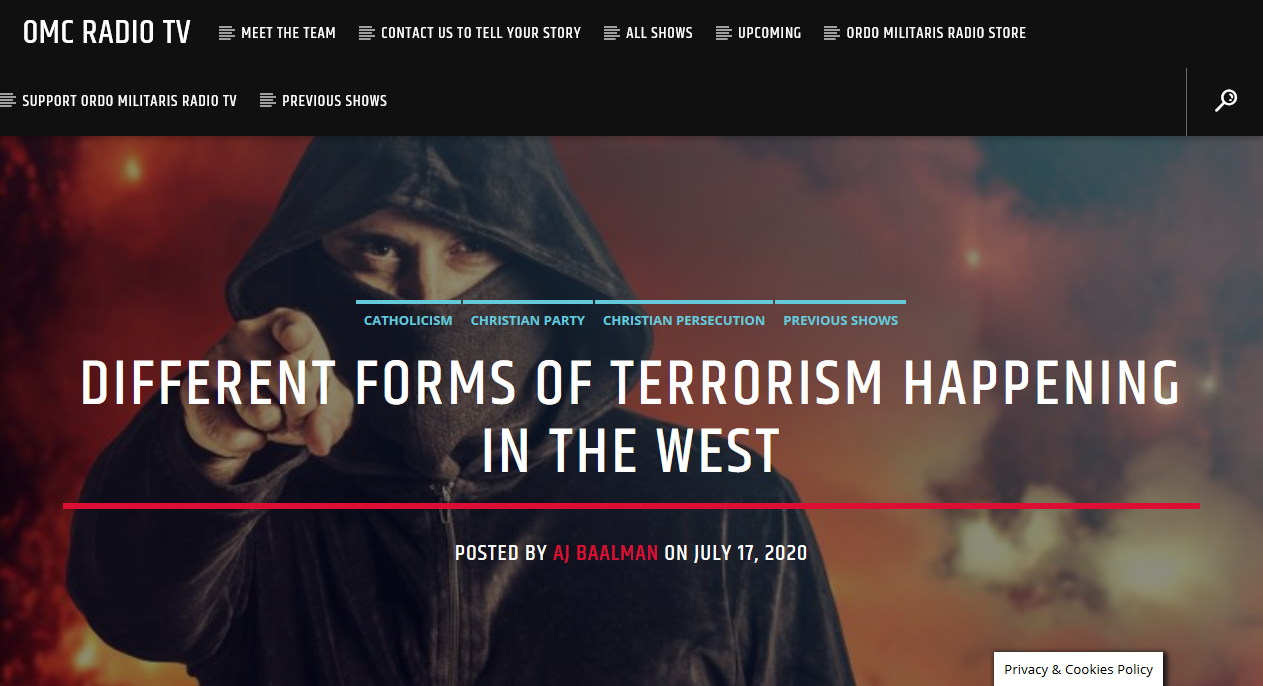 A Week of Terrorism, in review: July 20, 2020