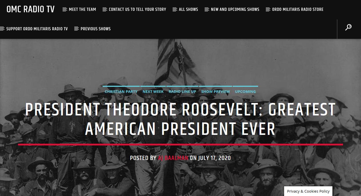 Theodore Roosevelt, the original MAGA President