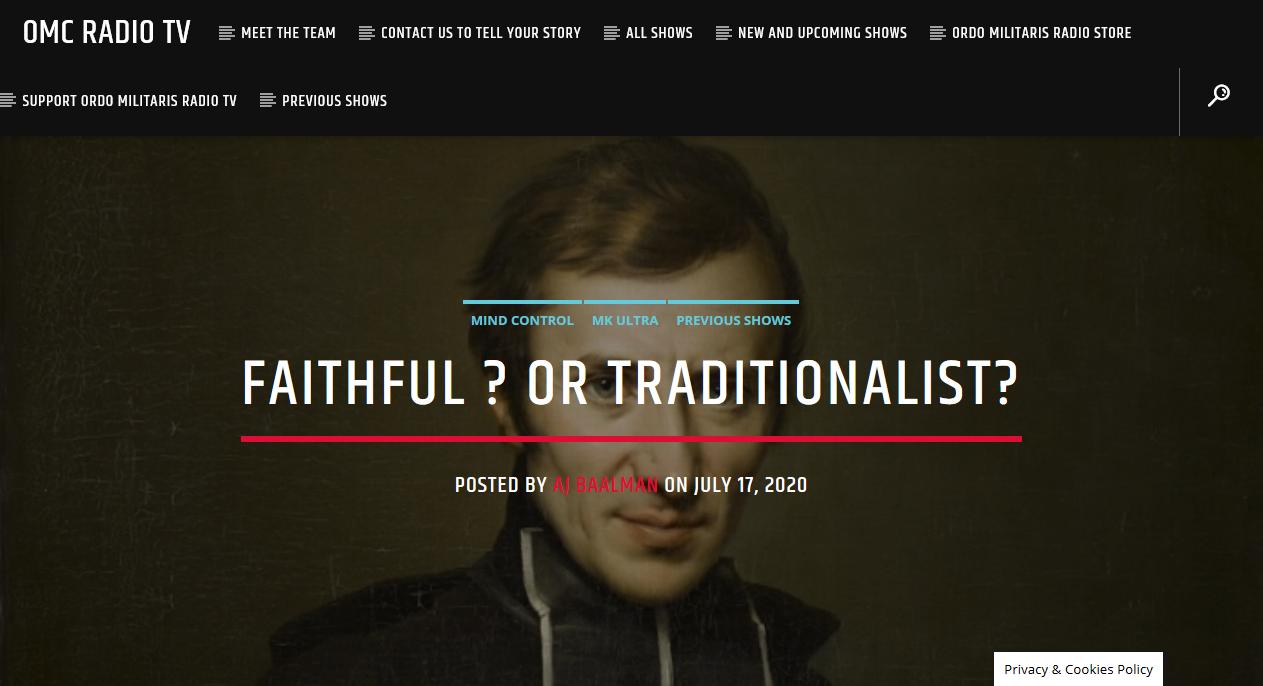 Faithful? or Traditionalist?