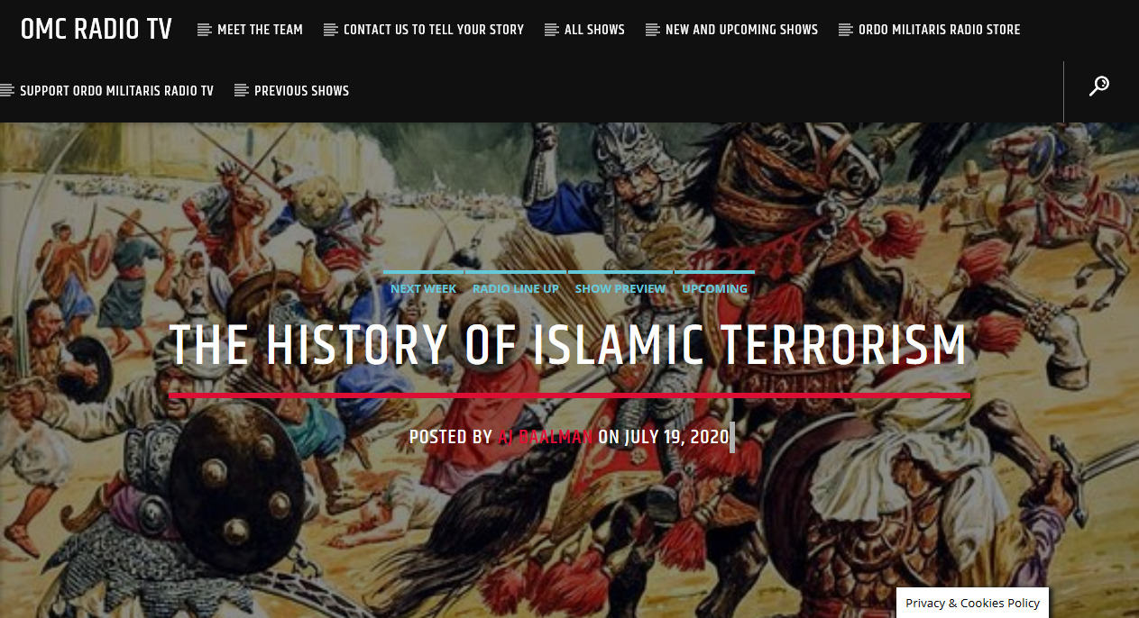 The History of Islamic Terrorism upto 1900 A.D.