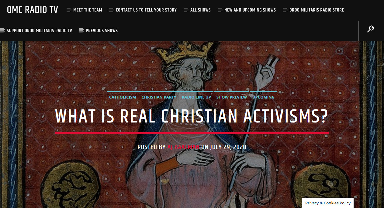 What is true Christian activism?