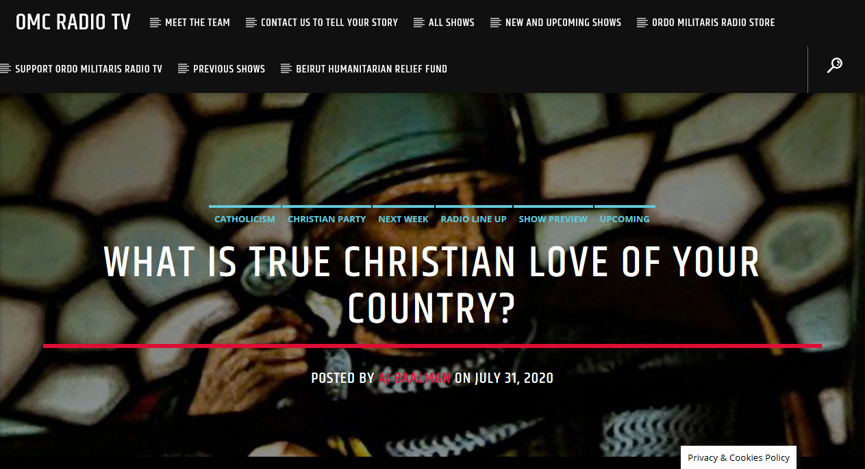 Christian Patriotism: what it is, and what it is not