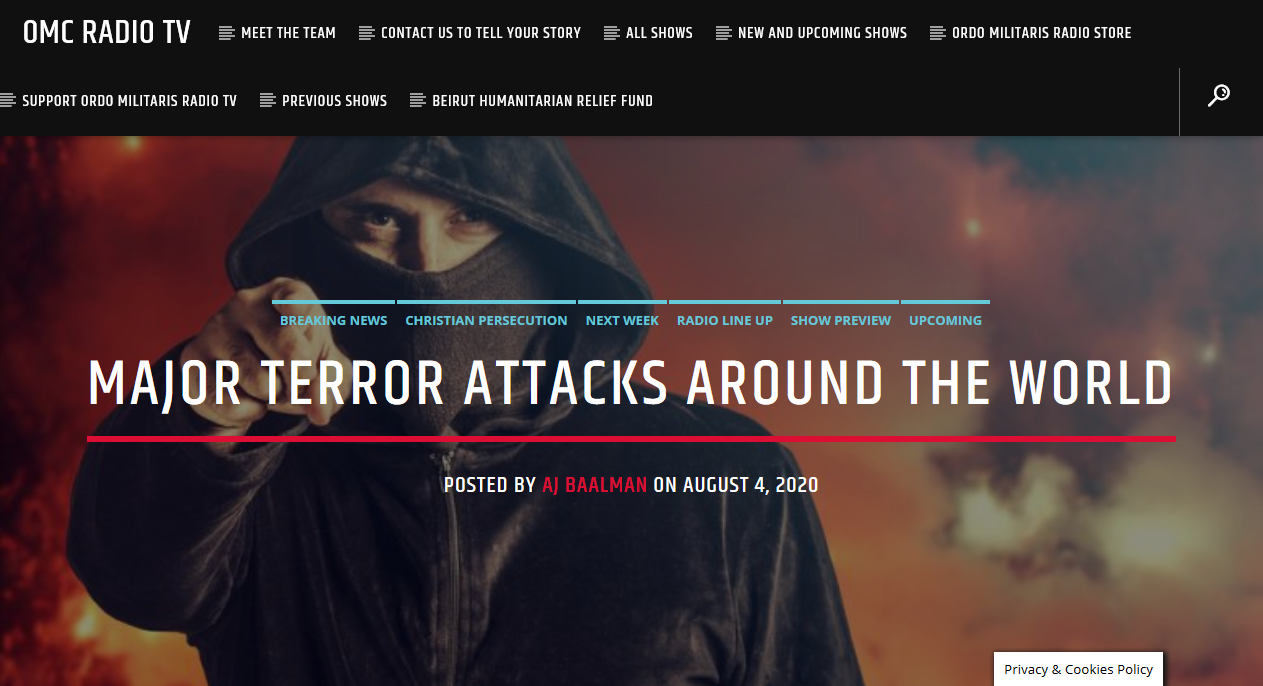 A Week of Terror — Aug. 3-10, 2020