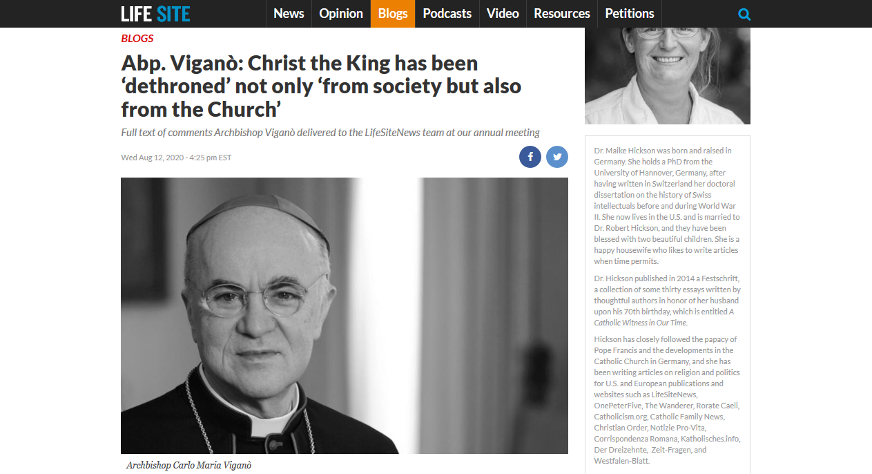 No, Archbishop Viganò, it is you who have betrayed the Church!