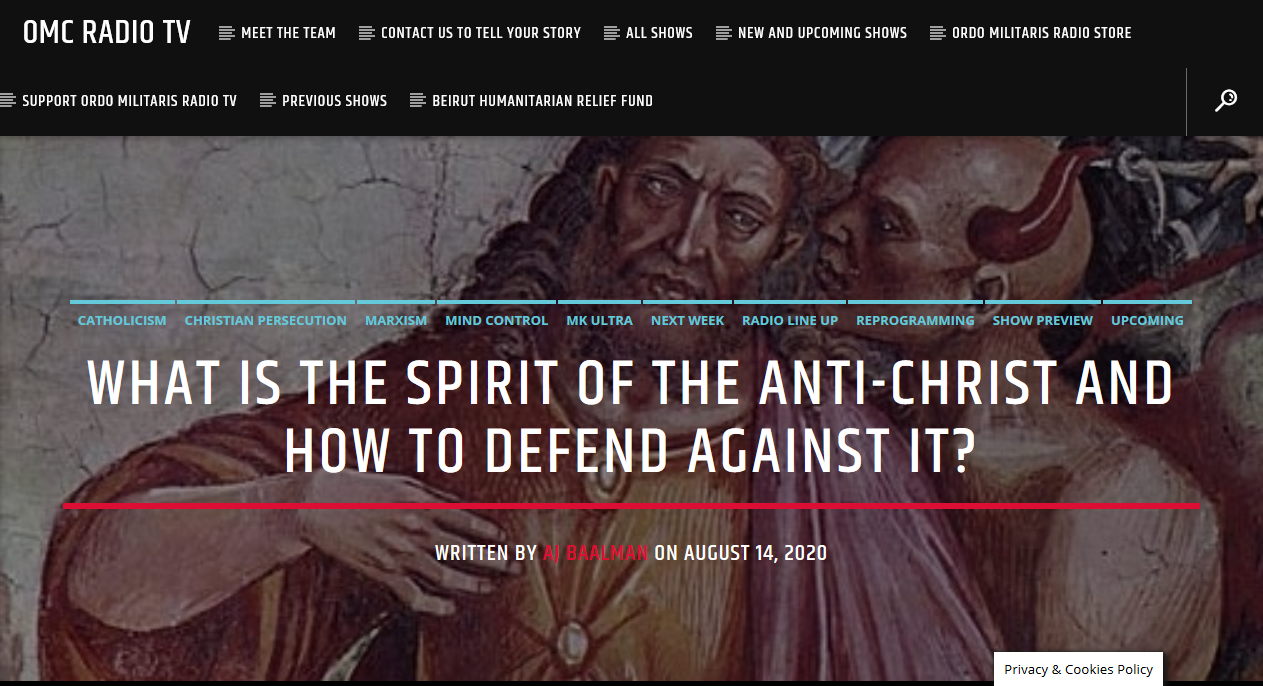 How to oppose the spirit of the Antichrist