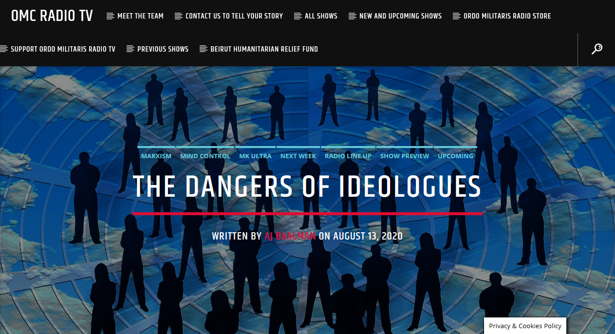 The Dangers posed by Ideologues