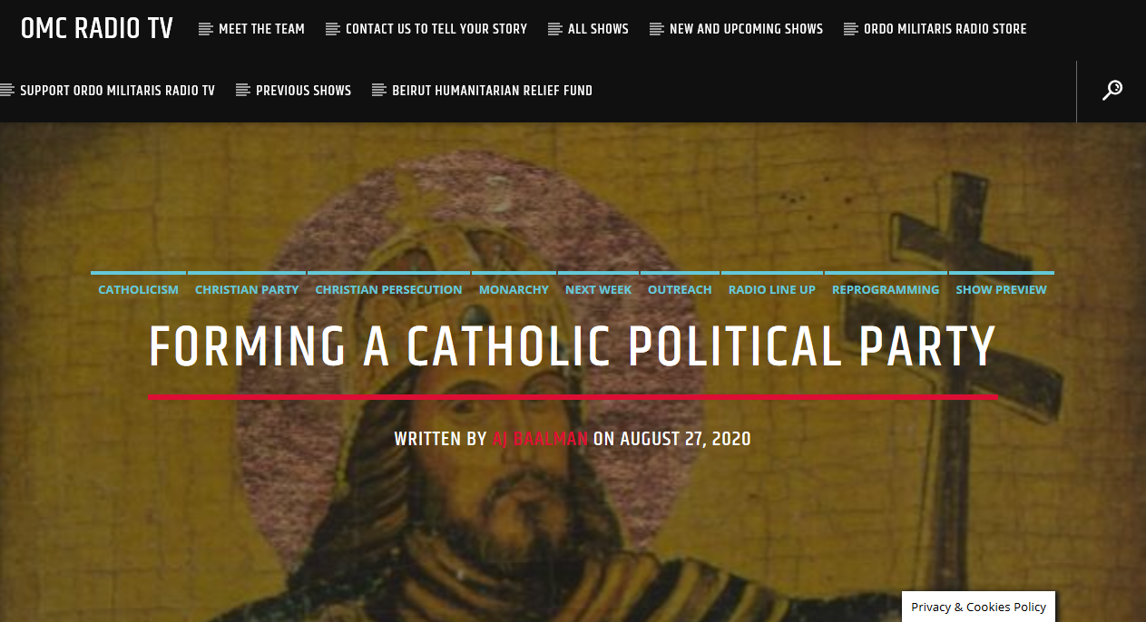 A Dialogue on Catholic Politics: Episode 1