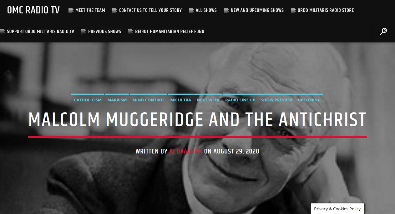 Malcom Muggeridge and the Antichrist