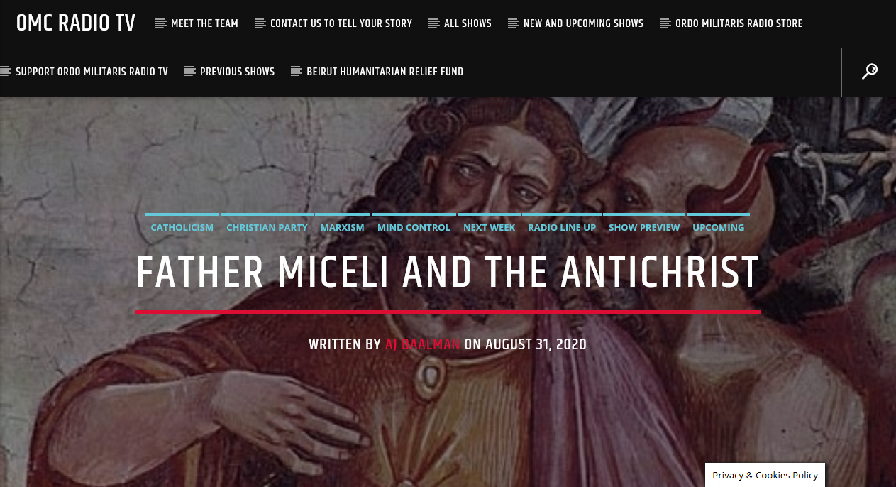 "Father Miceli and ""The Antichrist"""