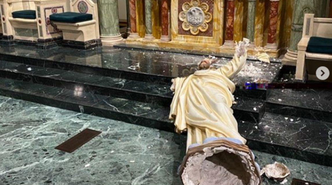 El Paso Cathedral desecrated
