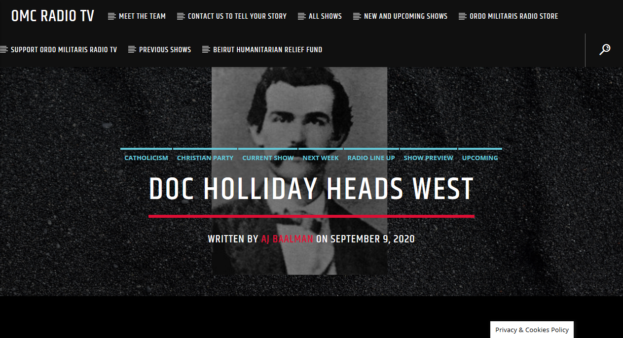 The Life of Doc Holiday: Part III
