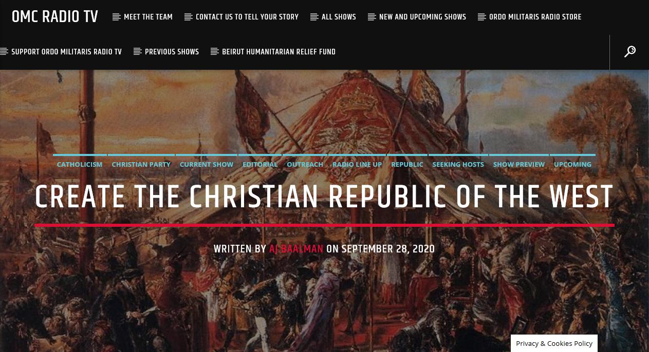 Catholics need to work to establish a Christian Republic