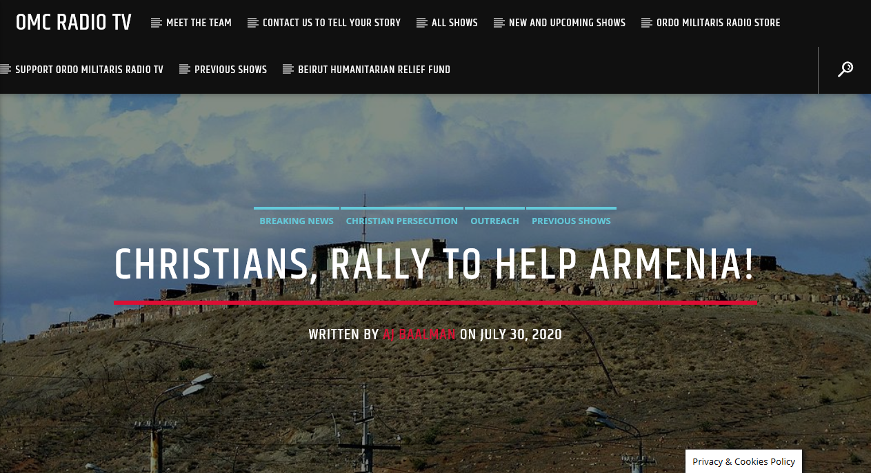 Christian Armenia under attack by Islam: It's Deus Vult time!
