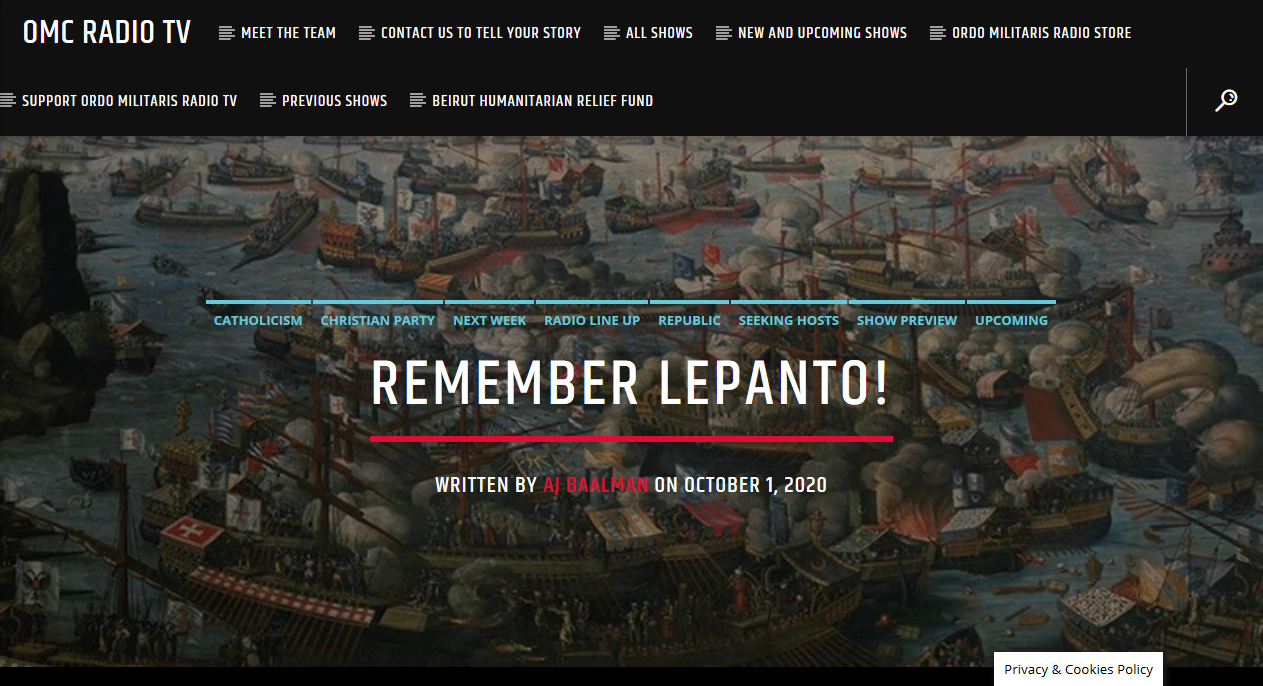 The Battle of Lepanto — A Moment of heroism for the ages!