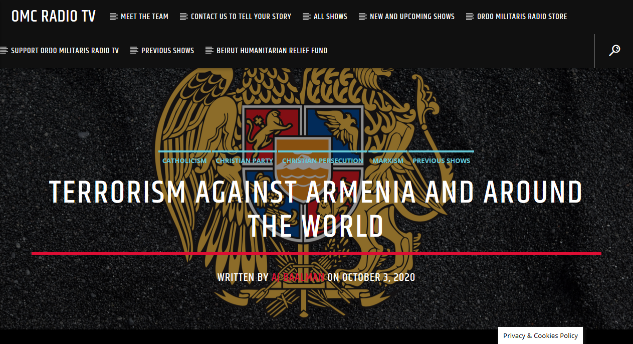 The War in Armenia — A Plot of Big Oil?