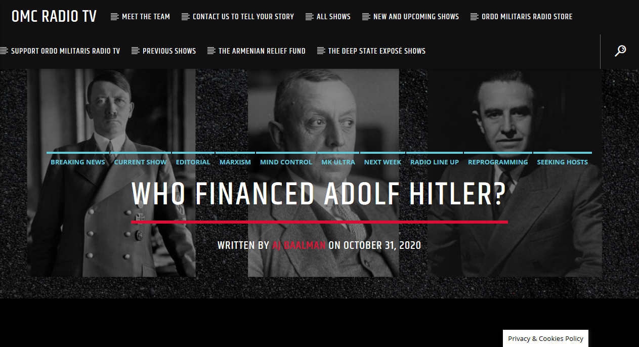 American and Dutch Bankers who Financed Hitler