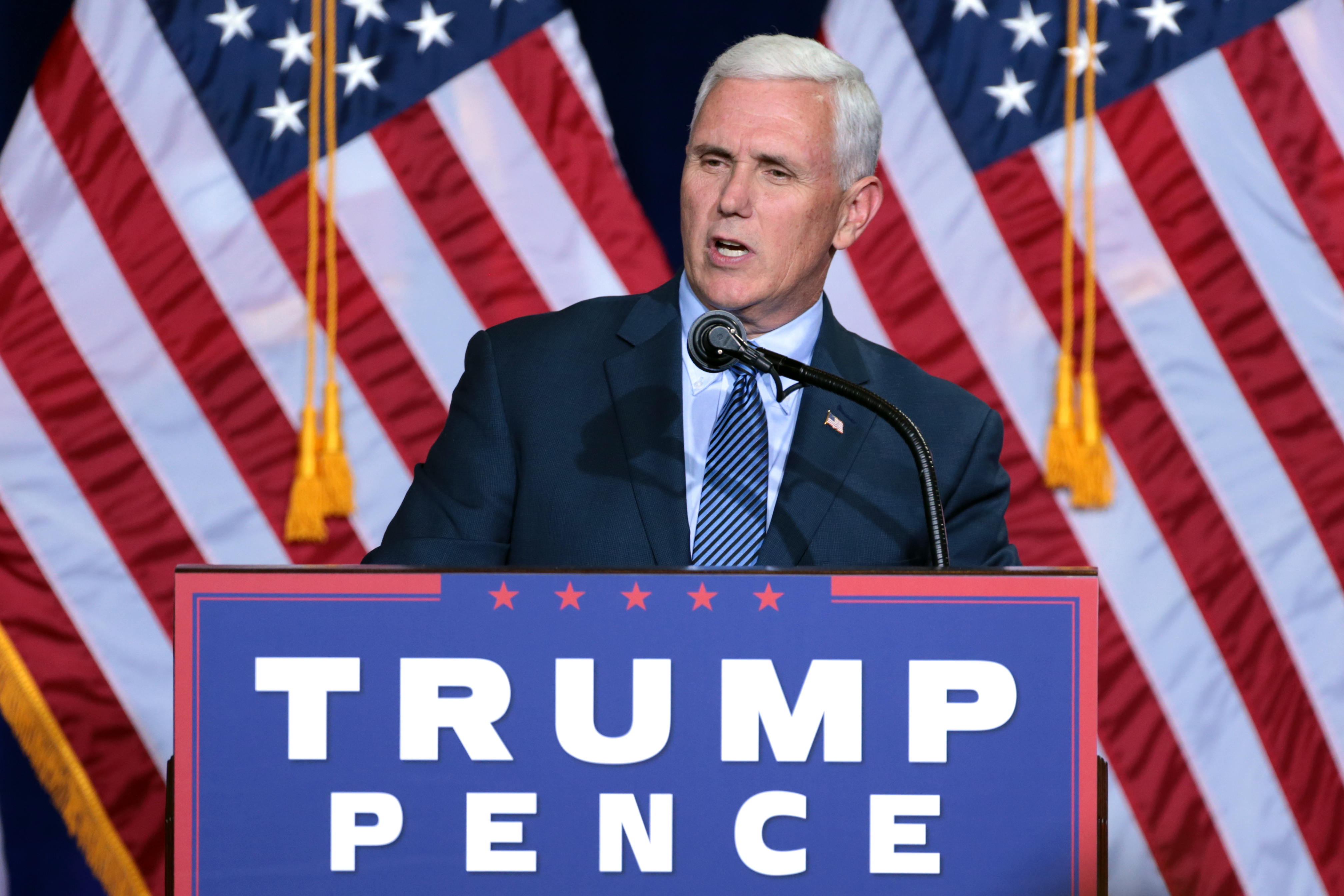 Mike Pence holds the Trump Card