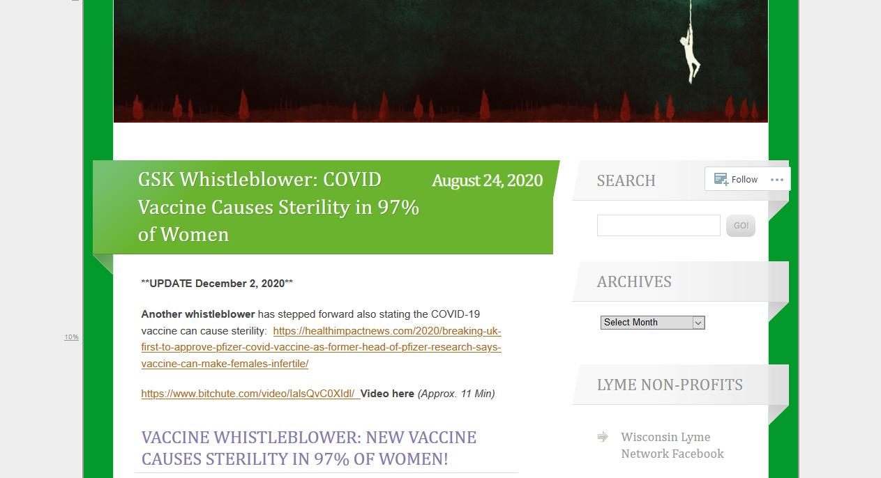 GSK Whistleblower: Covid-19 Vaccine will sterilize 97% of women