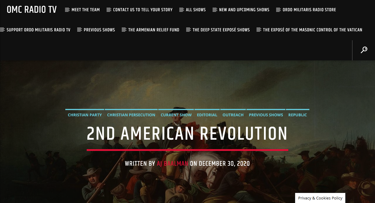 2nd American Revolution: What all US Patriots need to do now and after Jan. 6th