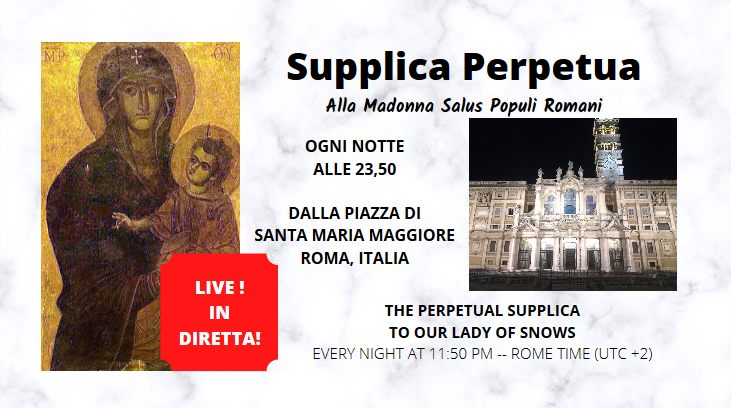 January 26th: First Anniversary of the Supplica Perpetua