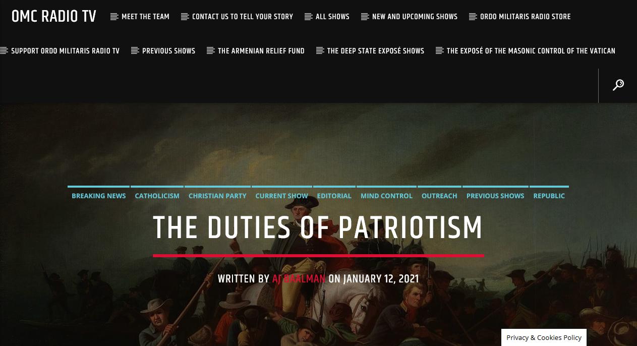 Rise up, o America! — Christian Patriots do you duty!