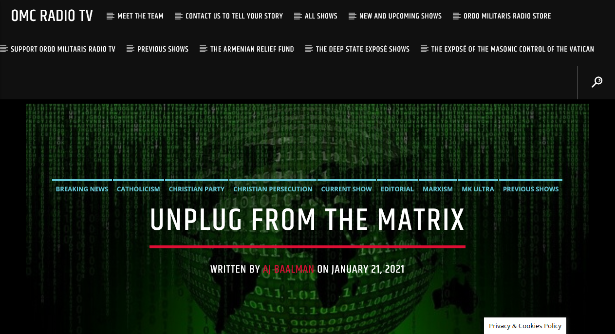 O America! Unplug from the Masonic Matrix!