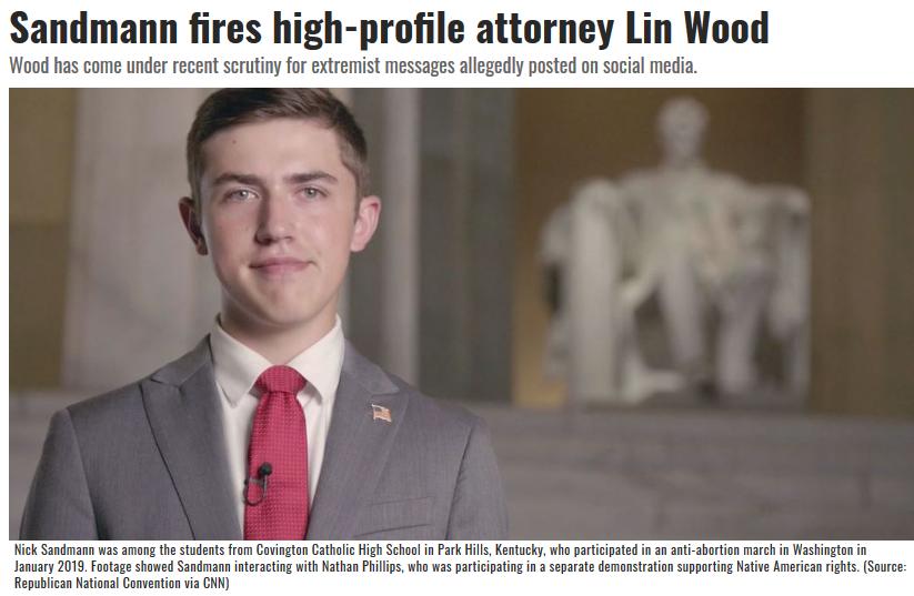 Nick Sandmann dumps Lin Wood